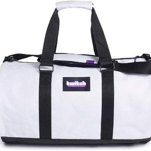 Twitch Logo Ice and Purple Duffel Shoulder Bag